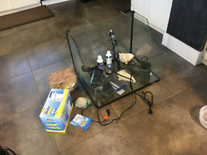 Fish/turtle tank and accessories