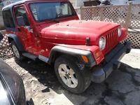 jeep TJ 1997 rouge( A VENDRE EN PIECE selement) plusieurs