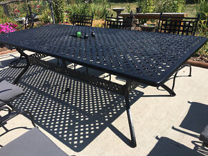 WANTED large metal patio table