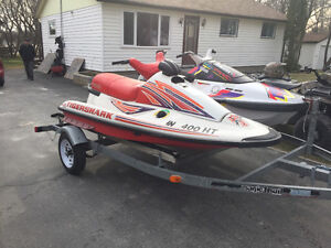 Double trailer, Yamaha Waverunner, & Artic Cat Thundershark