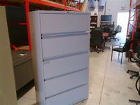 """Filing cabinet - 5 drawer - 30""""Wide - Steelcase"""