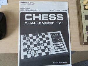 CHESS CHALLENGER 7 ELECTRONIC CHESS SET Kitchener / Waterloo Kitchener Area image 2