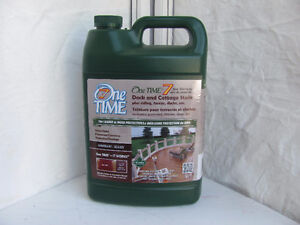 ONE TIME DECK AND FENCE STAIN 3.78 L