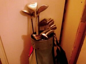 used golf clubs, with bag