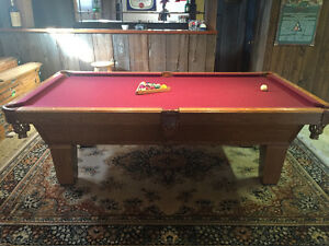 Olhausen 4x8 Oak BIlliard Table