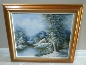 Oil Painting ON Canvas by W. Zeller