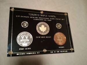 Leafs Raptors Jays 1 Oz Silver Ltd Ed. # Coins + Jays Bobblehead