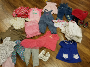 Size 6 to 9 months baby girl clothes