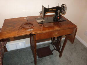 Vintage sewing machine with cabinet HAID & NEU