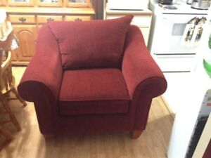 Burgandy Arm Chair