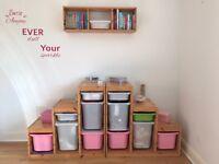 Ikea storage unit and ikea book shelf