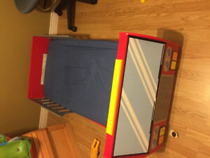 Fire truck toddler bed - excellent condition