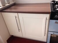 Ikea kitchen units and worktop