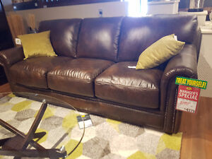 NEW LEATHER SOFA SET