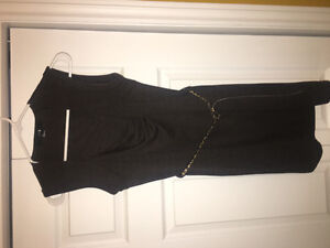 Forever 21 Grey Dress with Leopard Belt (Small)