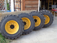 TIRE RIM NEW for skid steer bobcat HD super traction size 10,12
