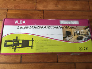 "Brand New Large Double Articulated TV Mount (fits 37""-65"")"