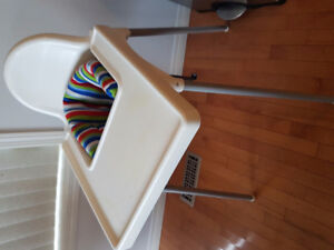 Ikeah high chair with back cushion
