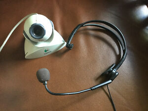 Webcam and microphone