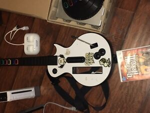 Wii console bundle, guitar, DJ, fit, other games Cambridge Kitchener Area image 3