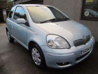 Toyota Yaris 1.0 VVT-I BLUE,MOT'D, SERVICED, 3 MONTHS WARRANTY & AA (silver) 2004