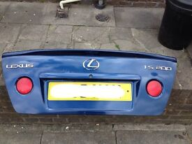 Lexus is200 blue 8m6 boot + spoiler bootlid complete 98-05 breaking spares is 200 is300