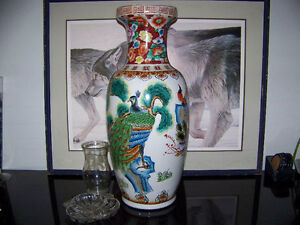 Chinese baluster shape Peacock Floor Vase