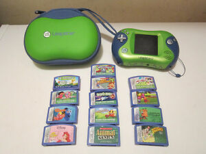 LEAPFROG LEAPSTER2 Hand Held W/Games NO SHIPPING....