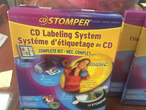 CD Labeling System, 200 Labels and Clear Covers
