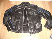 "CCM """" ------- black leather jacket ---------- size M // L"