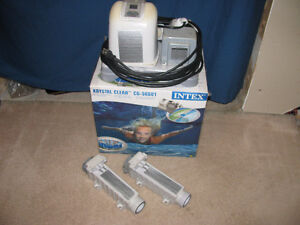 Intex saltwater chlorinator with extra chlorinator and cell