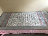 Single bed with free mattress