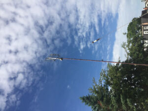 Bow tie antenna and channel master rotor