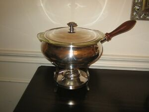 Silver Chafing Dish with glass bowl