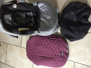 Car seat and car seat covers