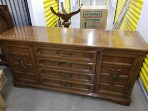 Free Antique Mahogany Dining Set + Buffet, Good Condition