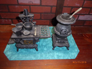 Cast Iron Wood Stove Ornaments