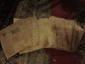 PRINTERS MASTERS DAILY TIME JOURNAL FORT WILLIAM 1950'S ORIGINAL