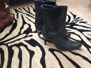 Black Genuine leather ankle boot