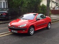 Peugeot 206 Convertible, Long Mot, Service History, Super Low Miles, ONE OWNER FROM NEW, Air Con