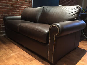 Hi Quality Leather Sofa Bed and Arm Chair