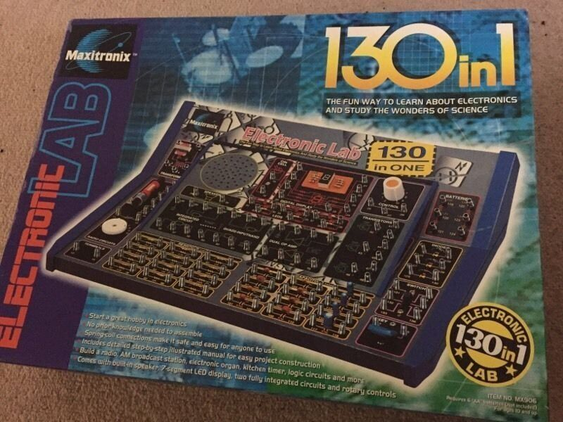 New Electronic Lab 130 In 1 Maxitronix With Instructions Toy Game