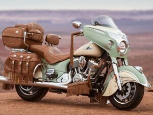 2017 Indian Motorcycle Roadmaster Classic Willow Green over Ivor