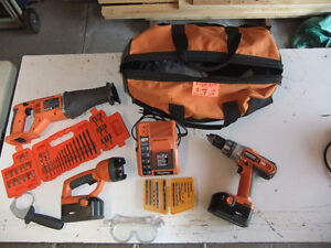 Ridgid Tool Set in a Carrying Case
