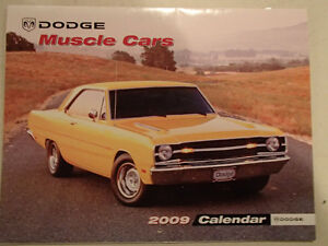 New 2009 DODGE MUSCLE CARS CALENDAR                       x2 Sarnia Sarnia Area image 1
