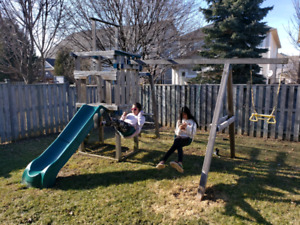 Swing Set with Slide and Side hand Swing