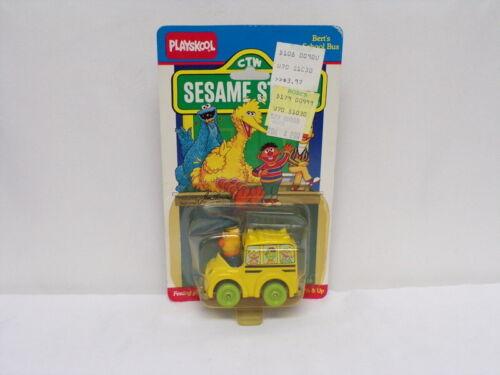VINTAGE SEALED 1987 Playskool Sesame Street Bert School Bus