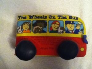 Wheels on the Bus Soft Cover Fabric Interactive Book