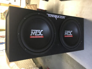 Loaded 12inch MTX Terminator enclosure