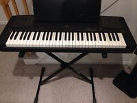 Yamaha YPP-15 keyboard with stand and power adapter